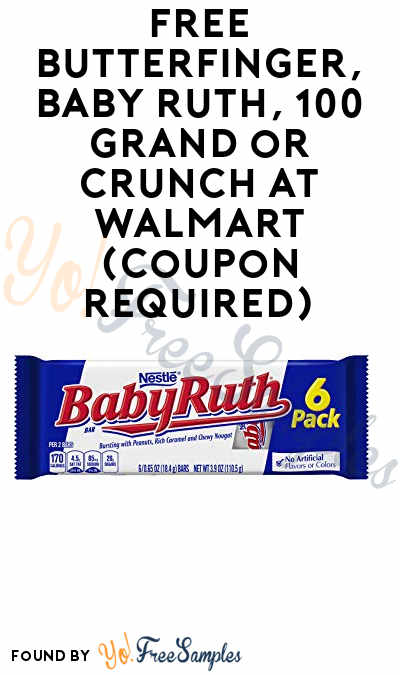 FREE Butterfinger, Baby Ruth, 100 Grand or Crunch At Walmart (Coupon Required)