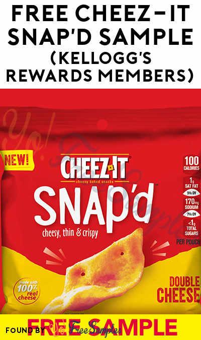 FREE Cheez-It Snap'd Sample (Kellogg's Rewards Members)
