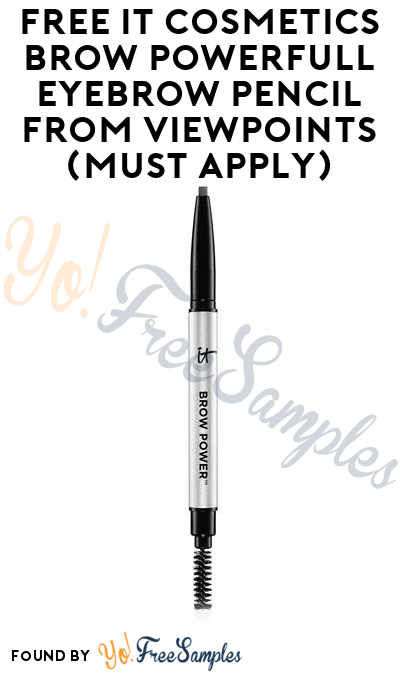 FREE IT Cosmetics Brow PowerFULL Eyebrow Pencil From ViewPoints (Must Apply)