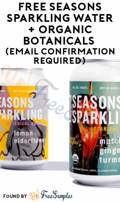 FREE Seasons Sparkling Water & More For Referring Friends (Email Confirmation Required)