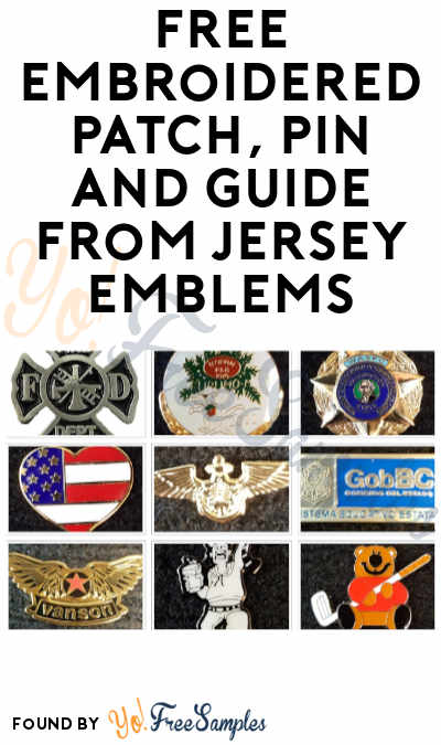 FREE Embroidered Patch, Pin and Guide from Jersey Emblems
