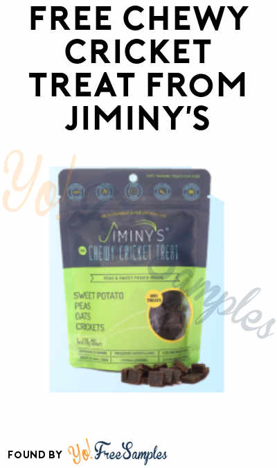 FREE Chewy Cricket Dog Treat from Jiminy's Earth Day Giveaway