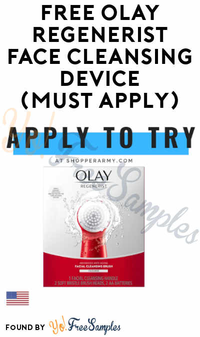 FREE Olay Regenerist Face Cleansing Device At Shopper Army (Must Apply)