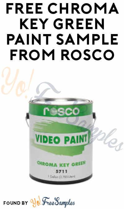FREE Chroma Key Green Paint Sample from Rosco