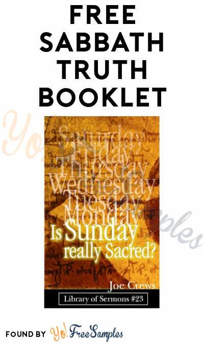 FREE Sabbath Truth Booklet (PDF Download)