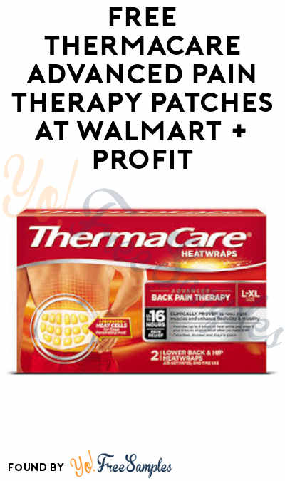 FREE ThermaCare Advanced Pain Therapy Patches at Walmart + Profit (Coupon & SavingStar Required)