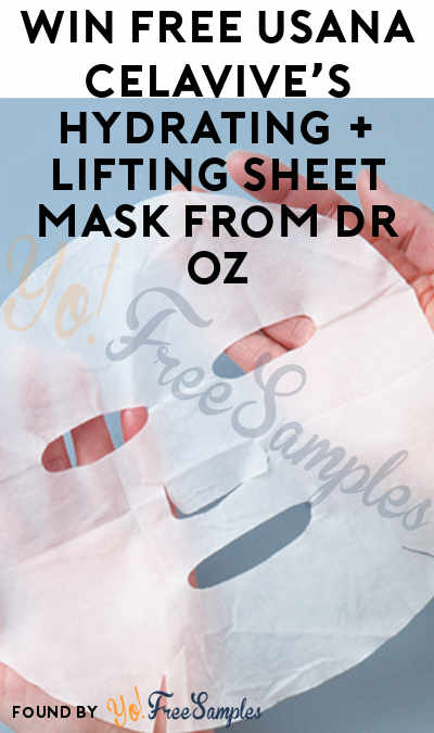 Win FREE USANA Celavive's Hydrating + Lifting Sheet Mask From Dr Oz