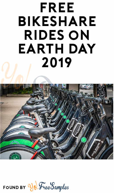 FREE Bikeshare Rides on Earth Day 2019