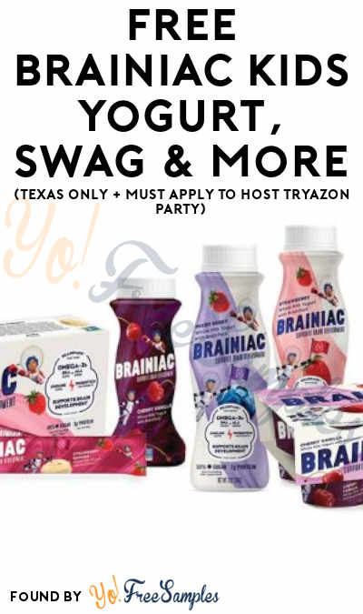 FREE Brainiac Kids Yogurt, Swag & More (Texas Only + Must Apply To Host Tryazon Party)