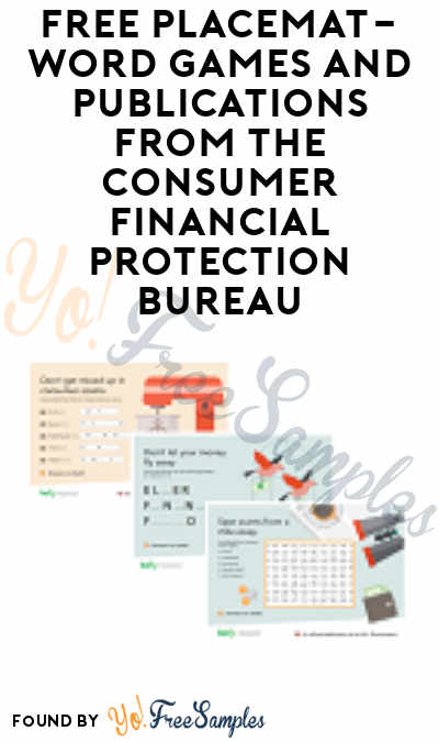 FREE Placemat-Word Games Bundles and Publications from The Consumer Financial Protection Bureau