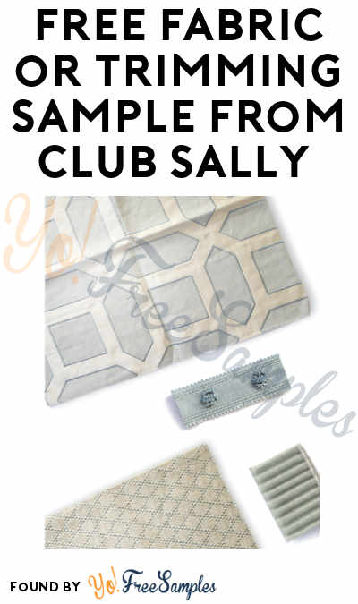 FREE Fabric or Trimming Sample from Club Sally
