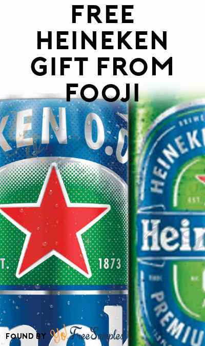Possible FREE Heineken Gift From Fooji (21+, Select Areas + Twitter Required)