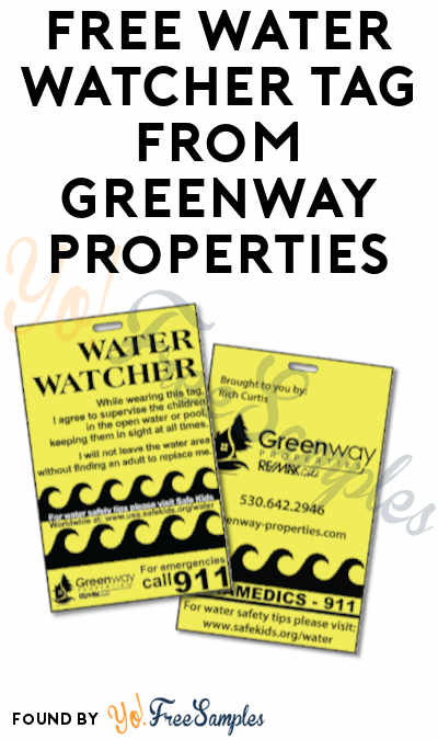 FREE Water Watcher Tag from Greenway Properties