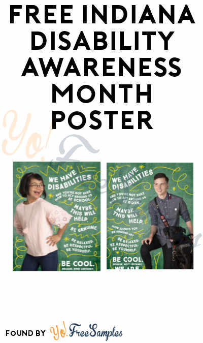 FREE Indiana Disability Awareness Month Poster