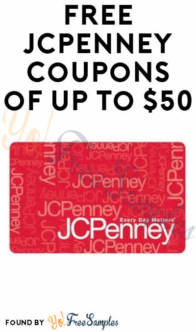 FREE JCPenney Coupons of Up To $50 (In-Stores April 13th Only)