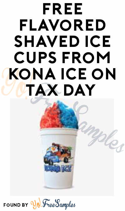 FREE Flavored Shaved Ice Cups from Kona Ice on Tax Day 2019 (April 15 at Ann Arbor YMCA Only)