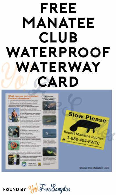 FREE Manatee Club Waterproof Waterway Card