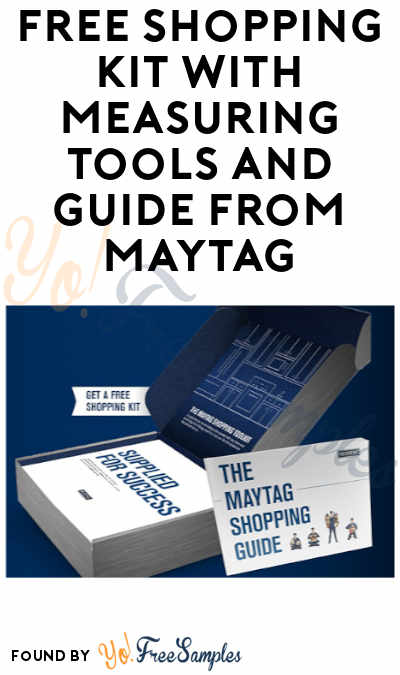 FREE Shopping Kit with Measuring Tools and Guide from Maytag