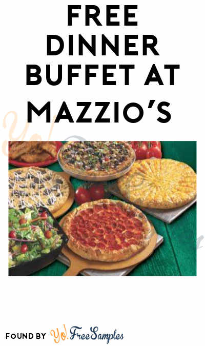 FREE Dinner Buffet at Mazzio's Italian Eatery Tax Day 2019 (Purchase and Coupon Required)