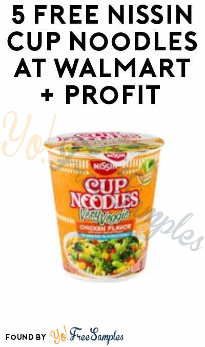 5 FREEBATE Nissin Cup Noodles at Walmart + Profit (Ibotta Required)