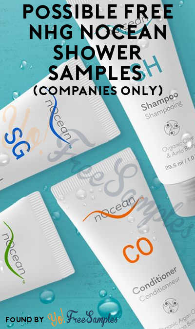 Possible FREE NHG nOcean Shower Samples (Companies Only)