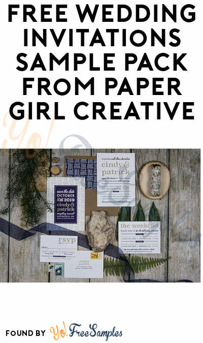 FREE Wedding Invitations Sample Pack from Paper Girl Creative