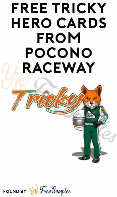 FREE Tricky Hero Cards from Pocono Raceway