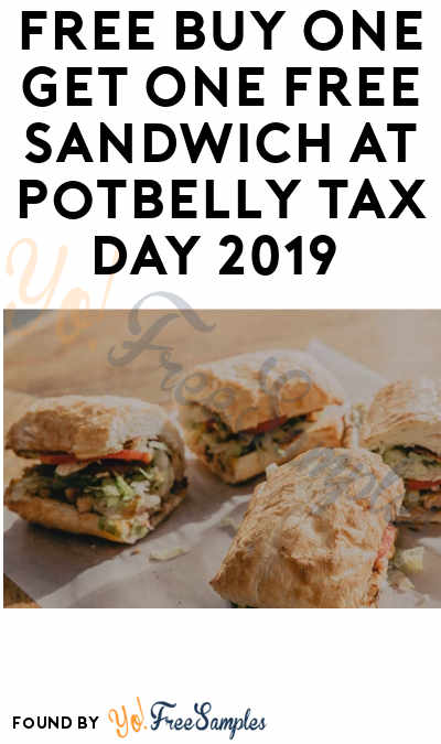 FREE Buy One Get One Free Sandwich at Potbelly Tax Day 2019 (Purchase Required)