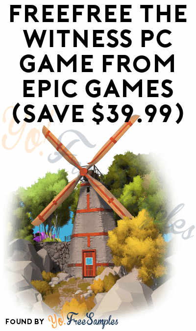 FREE The Witness PC Game from Epic Games (Save $39.99)
