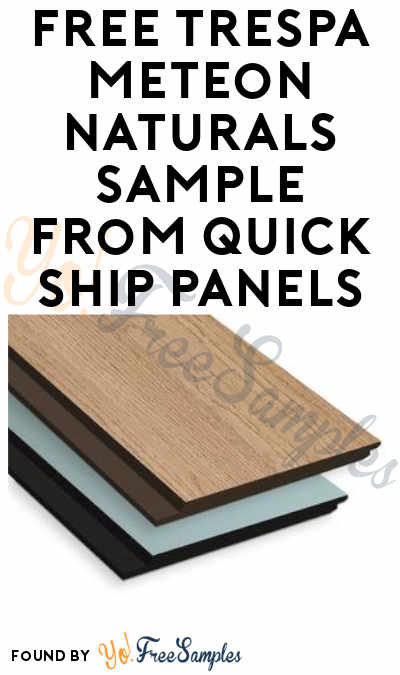 FREE Trespa Meteon Naturals Sample from Quick Ship Panels