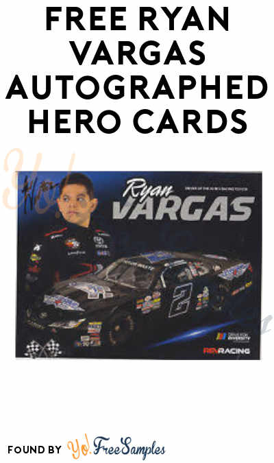 FREE Autographed Ryan Vargas Racing Hero Card