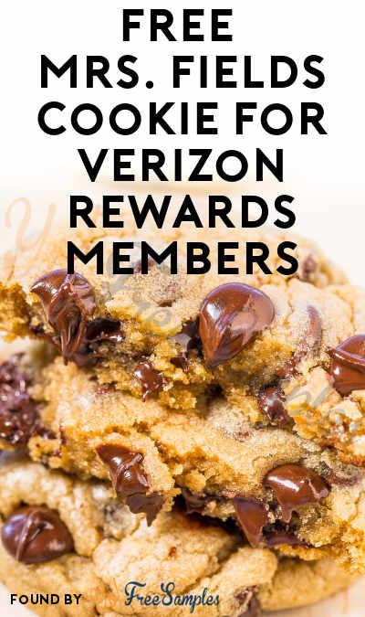 FREE Mrs. Fields Cookie For Verizon Rewards Members