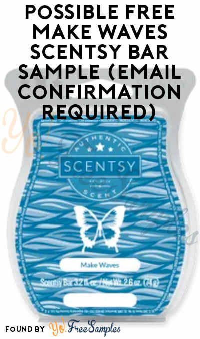 Possible FREE Make Waves Scentsy Bar Sample (Email Confirmation Required)