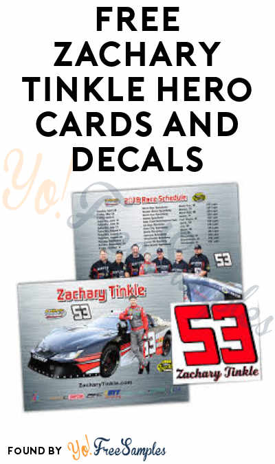 FREE Zachary Tinkle Hero Cards and Decals