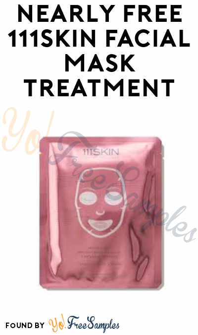 Nearly FREE 111Skin Facial Mask Treatment (Pay $5 Shipping – Credit Card Required)