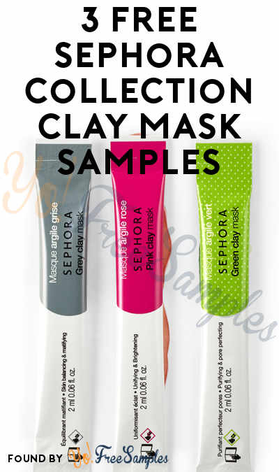 3 FREE Sephora Collection Clay Mask Samples (Instagram Required) [Verified Received By Mail]