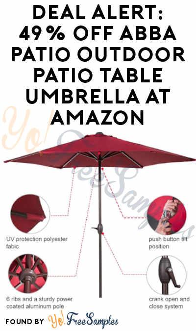 DEAL ALERT: 49% OFF Abba Patio Outdoor Patio Table Umbrella At Amazon