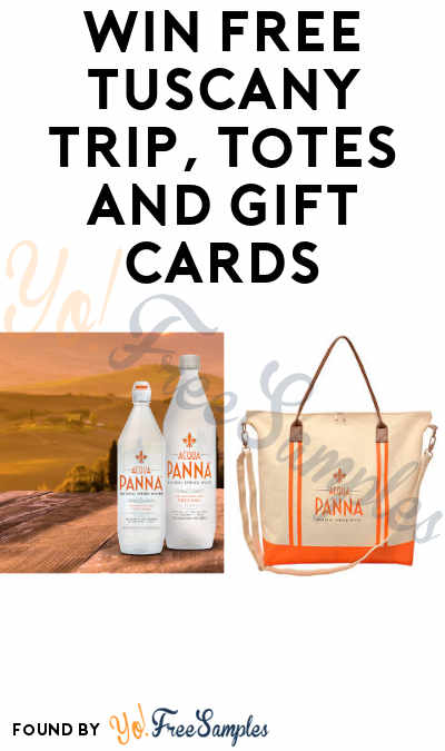 Enter Daily: Win FREE Tuscany Trip, Totes and Gift Cards in Acqua Panna Tuscan Journey Instant Win