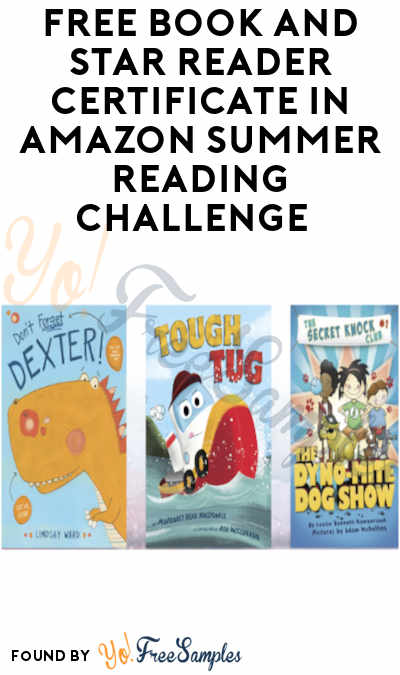 FREE Book + Star Reader Certificate in Amazon Summer Reading Challenge
