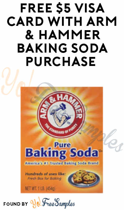 FREE $5 Visa Card with Arm & Hammer Baking Soda Purchase at Target, Walmart and Other Stores