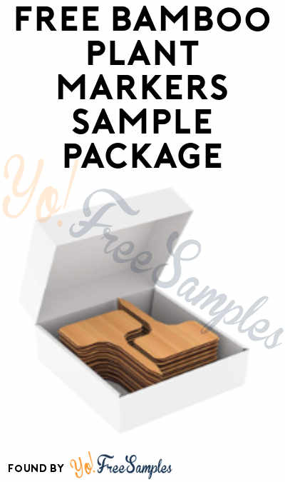 FREE Bamboo Plant Markers Sample Package
