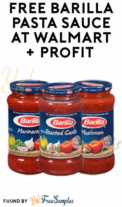 FREEBATE Barilla Pasta Sauce at Walmart + Profit (Coupon and SavingStar Required)
