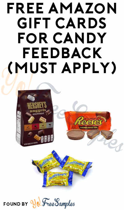 FREE Amazon Gift Cards For Candy Feedback (Must Apply)