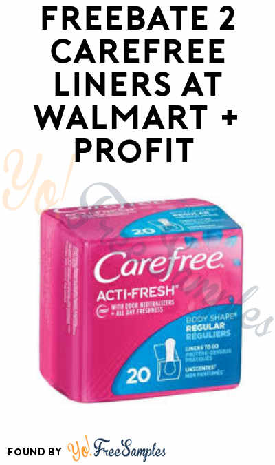 FREEBATE 2 Carefree Liners at Walmart + Profit (Ibotta Required)