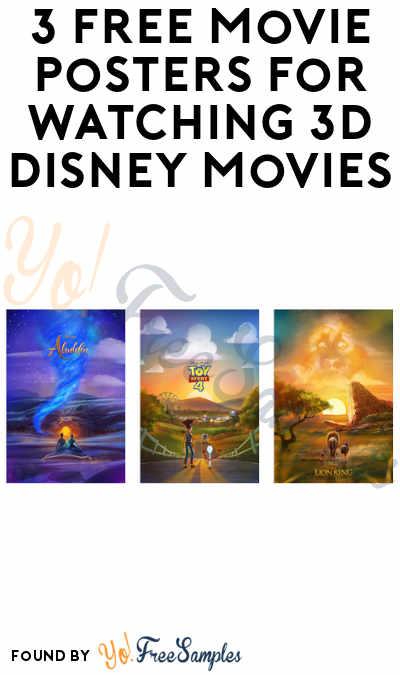 3 FREE Movie Posters For Watching 3D Disney Movies (Cinemark Rewards Members)