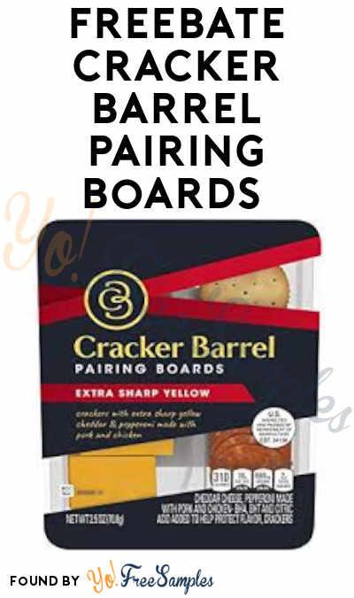 FREEBATE Cracker Barrel Pairing Boards (Ibotta Required)