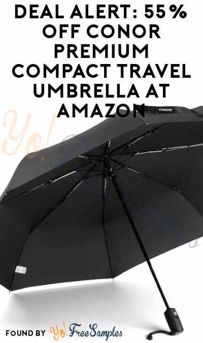 DEAL ALERT: 55% OFF Conor Premium Compact Travel Umbrella At Amazon