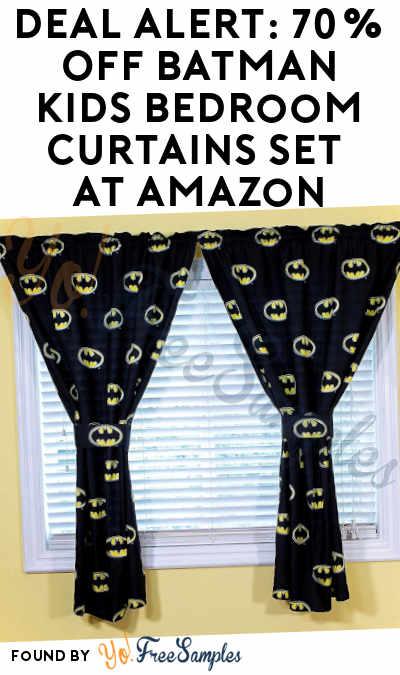 DEAL ALERT: 70% OFF Batman Kids Bedroom Curtains Set At Amazon