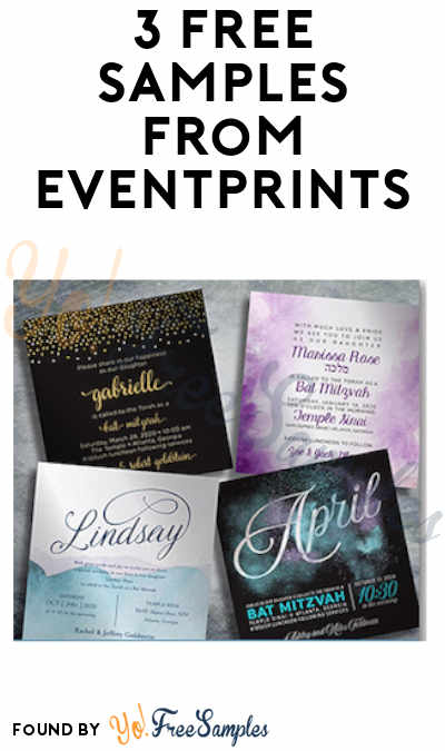 3 FREE Invitation Samples from EventPrints