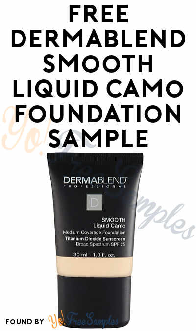 FREE Dermablend Smooth Liquid Camo Foundation Sample (New Email Sign Ups Only) [Verified Received By Mail]